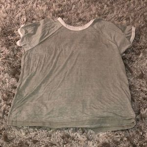 Army green tee shirt